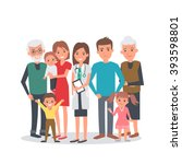 family doctor vector... | Shutterstock .eps vector #393598801