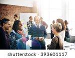 business team meeting working... | Shutterstock . vector #393601117