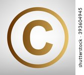 copyright sign. flat style icon | Shutterstock .eps vector #393604945