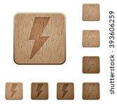 set of carved wooden flash...