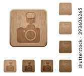 set of carved wooden camera...