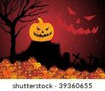 halloween background with retro ... | Shutterstock .eps vector #39360655
