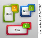 vector banners set. | Shutterstock .eps vector #393607585