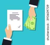 get money for paper contract.... | Shutterstock .eps vector #393609739