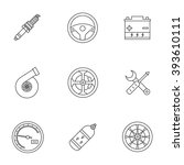 car icon  object car  a set of... | Shutterstock .eps vector #393610111