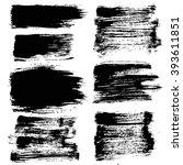brush strokes set. paintbrush... | Shutterstock .eps vector #393611851
