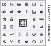 simple bank icons set.... | Shutterstock .eps vector #393619555
