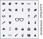 simple accessories icons set....