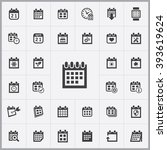 simple calendar icons set....