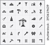 simple construction icons set.... | Shutterstock .eps vector #393619639