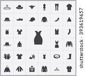 simple clothes icons set....