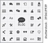 blog icon  blog icon vector ...