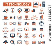 it technology icons  | Shutterstock .eps vector #393620737