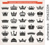 Set Of Crown Heraldic...