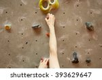 Young Man Climbing Indoor