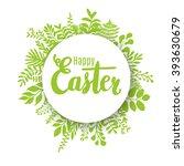 happy easter lettering design... | Shutterstock .eps vector #393630679