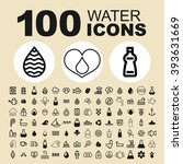 water and nature icons. drink... | Shutterstock .eps vector #393631669