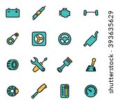 trendy flat line icon pack for... | Shutterstock .eps vector #393635629