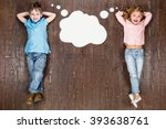 happy children. top view... | Shutterstock . vector #393638761