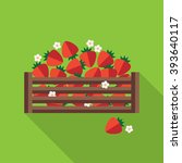 strawberry vector illustration. ... | Shutterstock .eps vector #393640117