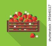 strawberry vector illustration. ... | Shutterstock .eps vector #393640117