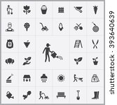 simple gardening icons set....
