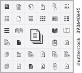 simple document icons set....