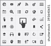 simple digital marketing icons...