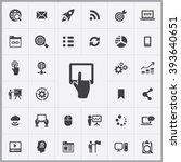 simple digital marketing icons...