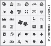 simple casino icons set.... | Shutterstock .eps vector #393640675