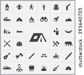 simple camping icons set.... | Shutterstock .eps vector #393640705