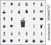 simple drink icons set.... | Shutterstock .eps vector #393640717