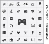 simple entertainment icons set. ...
