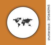 world map illustration. flat... | Shutterstock .eps vector #393640945