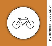minimalistic bicycle icon.... | Shutterstock .eps vector #393642709