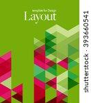 vector layout design template... | Shutterstock .eps vector #393660541