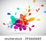 abstract colored background...   Shutterstock .eps vector #393660685