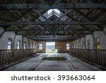 insane asylum interior ruins w  ... | Shutterstock . vector #393663064