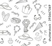 womans accessories seamless...   Shutterstock .eps vector #393667069