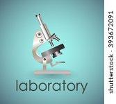 illustration of microscope on... | Shutterstock .eps vector #393672091