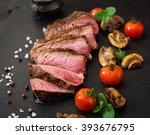 juicy steak medium rare beef... | Shutterstock . vector #393676795