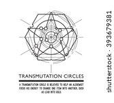 transmutation circles  ... | Shutterstock .eps vector #393679381
