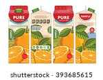 orange juice template packaging ... | Shutterstock .eps vector #393685615