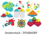 holi festival  raster... | Shutterstock . vector #393686089