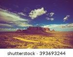 Arizona South East. Raw Monuments Valley Summer Scenery. - stock photo
