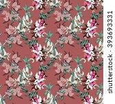 watercolor seamless pattern...   Shutterstock . vector #393693331
