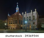Golden Gate and Manor St. Fraternity. George in Gdansk, Poland. - stock photo