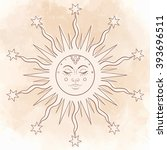 sun. vector illustration in... | Shutterstock .eps vector #393696511