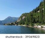 View to the lake Como from villa Monastero. Italy - stock photo