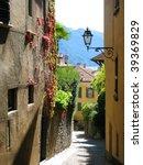 Narrow Street Of Menaggio  Italy